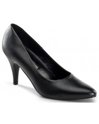 Black Faux Leather Essential Pump 420 3 Inch Heel Shoe