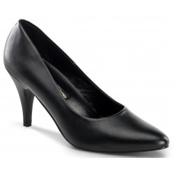 Black Faux Leather Essential Pump 420 3 Inch Heel Shoe Mild to Wild Womens Shoes  Shoes for Women from Flats to Extreme High Heels & Platforms