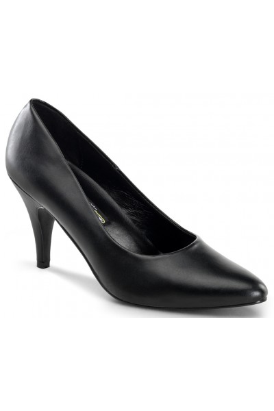 Black Faux Leather Essential Pump 420 3 Inch Heel Shoe at Mild to Wild Womens Shoes,  Shoes for Women from Flats to Extreme High Heels & Platforms
