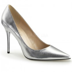 Silver Metallic Classique Pointed Toe Pump Mild to Wild Womens Shoes  Shoes for Women from Flats to Extreme High Heels & Platforms