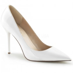 White Classique Pointed Toe Pump Mild to Wild Womens Shoes  Shoes for Women from Flats to Extreme High Heels & Platforms