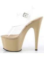 Cream Platform Clear Strap Platform Sandal at Mild to Wild Womens Shoes,  Shoes for Women from Flats to Extreme High Heels & Platforms