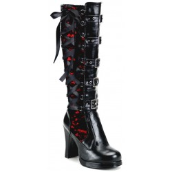 Crypto Lace Overlay Knee Boot Mild to Wild Womens Shoes  Shoes for Women from Flats to Extreme High Heels & Platforms