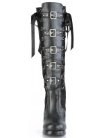 Crypto Black Lace Overlay Knee Boot at Mild to Wild Womens Shoes,  Shoes for Women from Flats to Extreme High Heels & Platforms