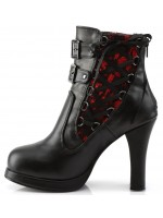 Corset Laced Crypto Gothic Ankle Boot at Mild to Wild Womens Shoes,  Shoes for Women from Flats to Extreme High Heels & Platforms