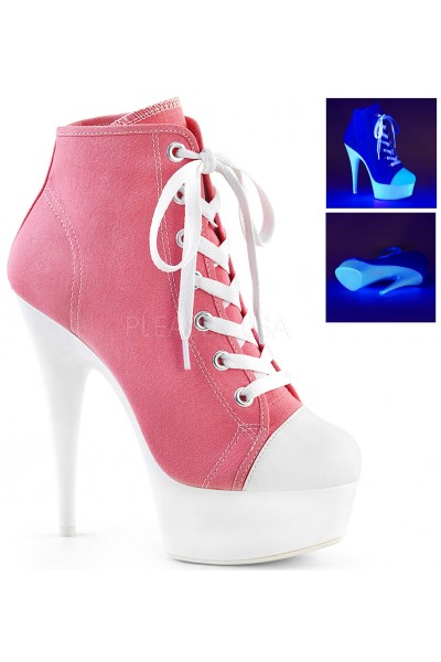 Pink and White High Heel Platform Sneaker at Mild to Wild Womens Shoes,  Shoes for Women from Flats to Extreme High Heels & Platforms