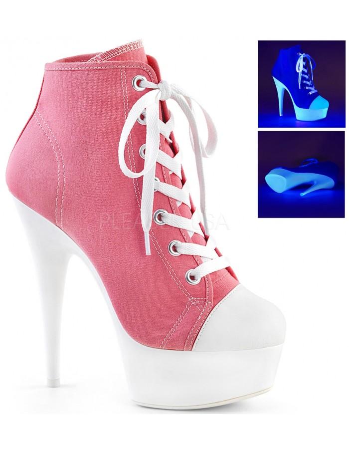 White High Heel Platform Sneaker