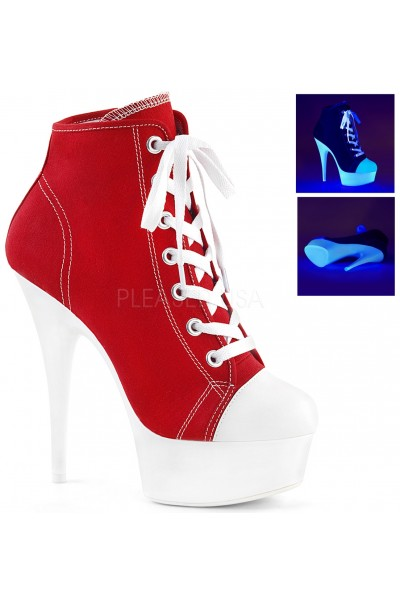 Red and White High Heel Platform Sneaker at Mild to Wild Womens Shoes,  Shoes for Women from Flats to Extreme High Heels & Platforms