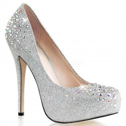 Destiny Silver Rhinestone Embellished Pumps Mild to Wild Shoes  Shoes for Women from Flats to Extreme High Heels & Platforms