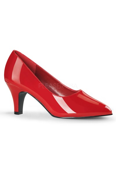 Divine Red Wide Width Pump at Mild to Wild Womens Shoes,  Shoes for Women from Flats to Extreme High Heels & Platforms