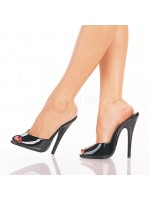 Domina High Heel Peep Toe Slide at Mild to Wild Womens Shoes,  Shoes for Women from Flats to Extreme High Heels & Platforms