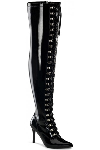 Dominatrix Wide Width Black Thigh High Boots at Mild to Wild Womens Shoes,  Shoes for Women from Flats to Extreme High Heels & Platforms