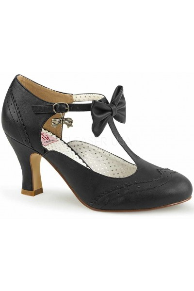 Flapper Black T-Strap Bow Pump at Mild to Wild Womens Shoes,  Shoes for Women from Flats to Extreme High Heels & Platforms