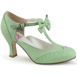 Flapper Mint Green T-Strap Bow Pump Mild to Wild Womens Shoes  Shoes for Women from Flats to Extreme High Heels & Platforms