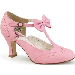 Flapper Pink T-Strap Pump Mild to Wild Womens Shoes  Shoes for Women from Flats to Extreme High Heels & Platforms