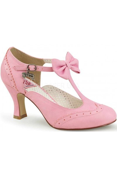 Flapper Pink T-Strap Pump at Mild to Wild Womens Shoes,  Shoes for Women from Flats to Extreme High Heels & Platforms
