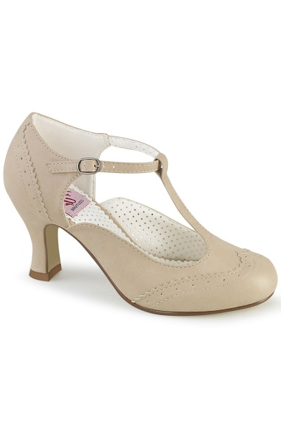Flapper Cream T-Strap Pump at Mild to Wild Womens Shoes,  Shoes for Women from Flats to Extreme High Heels & Platforms