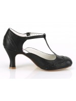 Flapper Black Kitten Heel T-Strap Pump at Mild to Wild Womens Shoes,  Shoes for Women from Flats to Extreme High Heels & Platforms