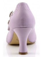 Cross Strap Flapper Lavender Vintage Heel Shoe at Mild to Wild Womens Shoes,  Shoes for Women from Flats to Extreme High Heels & Platforms