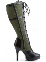 Arena Army Green Knee Boots for Women at Mild to Wild Womens Shoes,  Shoes for Women from Flats to Extreme High Heels & Platforms