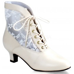 Victorian Dame Ivory Ankle Boot Mild to Wild Womens Shoes  Shoes for Women from Flats to Extreme High Heels & Platforms
