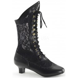 Victorian Dame Black Lace Boot Mild to Wild Womens Shoes  Shoes for Women from Flats to Extreme High Heels & Platforms