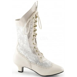 Victorian Dame Ivory Lace Boot Mild to Wild Womens Shoes  Shoes for Women from Flats to Extreme High Heels & Platforms