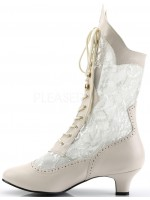 Victorian Dame Ivory Lace Boot at Mild to Wild Womens Shoes,  Shoes for Women from Flats to Extreme High Heels & Platforms