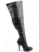 Diva Wide Width Black Thigh High Boots at Mild to Wild Womens Shoes,  Shoes for Women from Flats to Extreme High Heels & Platforms