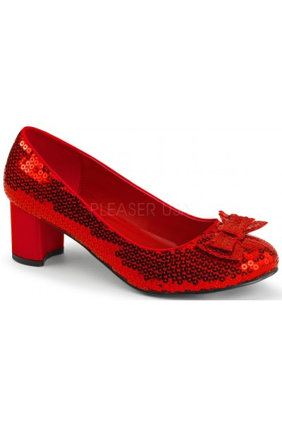 Dorothy Red Sequin 2 Inch Heel Pump at Mild to Wild Womens Shoes,  Shoes for Women from Flats to Extreme High Heels & Platforms