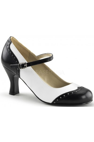 Flapper Black White Spectator Mary Jane at Mild to Wild Womens Shoes,  Shoes for Women from Flats to Extreme High Heels & Platforms