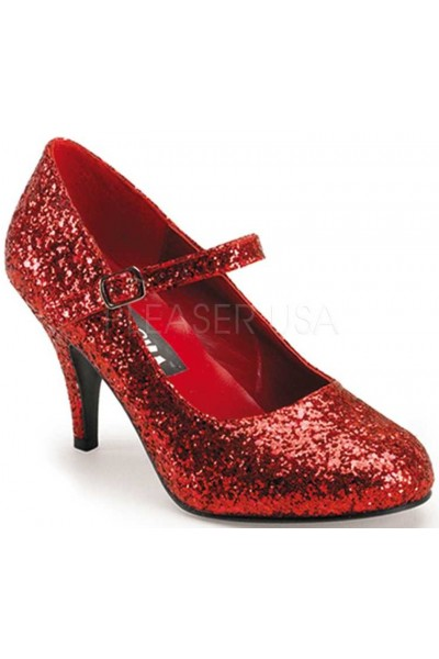 Glinda Red Glittered Mary Jane Pump at Mild to Wild Womens Shoes,  Shoes for Women from Flats to Extreme High Heels & Platforms