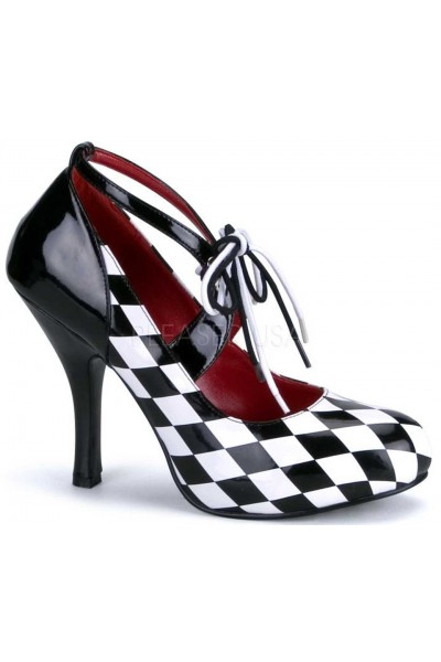 Harlequinn Black and White Checkered Pump at Mild to Wild Womens Shoes,  Shoes for Women from Flats to Extreme High Heels & Platforms