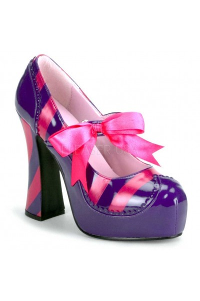 Kitty Purple and Hot Pink Striped Pump at Mild to Wild Womens Shoes,  Shoes for Women from Flats to Extreme High Heels & Platforms