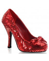 Oz Red Sequin High Heel Pump