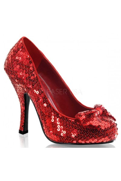 Oz Red Sequin High Heel Pump at Mild to Wild Womens Shoes,  Shoes for Women from Flats to Extreme High Heels & Platforms