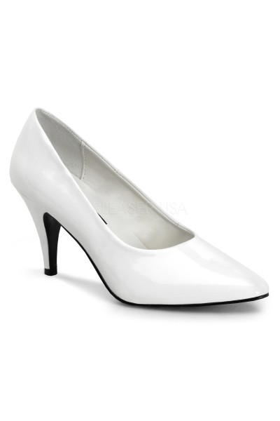 White Classic Pump 420 with 3 Inch Heel at Mild to Wild Womens Shoes,  Shoes for Women from Flats to Extreme High Heels & Platforms