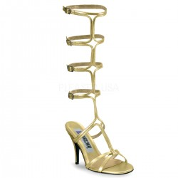 Roman Gold Gladiator Mule Sandal Mild to Wild Womens Shoes  Shoes for Women from Flats to Extreme High Heels & Platforms