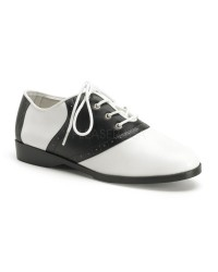 Saddle Shoe Black and White Womens Flat Oxford