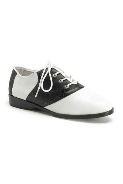 Saddle Shoe Black and White Womens Flat Oxford at Mild to Wild Womens Shoes,  Shoes for Women from Flats to Extreme High Heels & Platforms