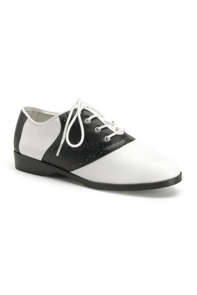 Saddle Shoe Black and White Womens
