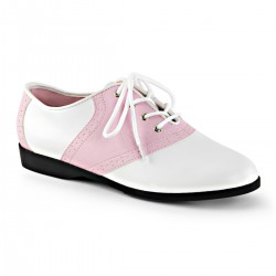 Saddle Shoe Pink and White Womens Flat Oxford Mild to Wild Womens Shoes  Shoes for Women from Flats to Extreme High Heels & Platforms