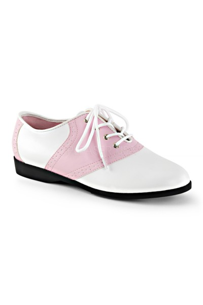 Saddle Shoe Pink and White Womens Flat Oxford at Mild to Wild Womens Shoes,  Shoes for Women from Flats to Extreme High Heels & Platforms