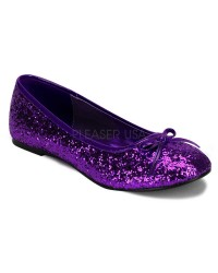 Star Deep Purple Glittered Ballet Flat