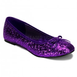 Star Deep Purple Glittered Ballet Flat Mild to Wild Shoes  Shoes for Women from Flats to Extreme High Heels & Platforms