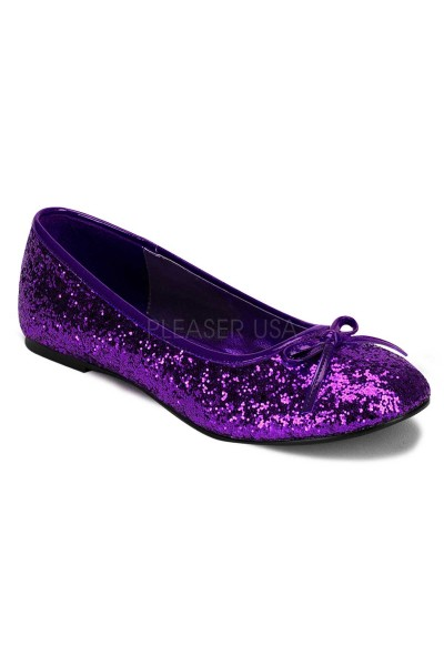 Star Deep Purple Glittered Ballet Flat at Mild to Wild Womens Shoes,  Shoes for Women from Flats to Extreme High Heels & Platforms
