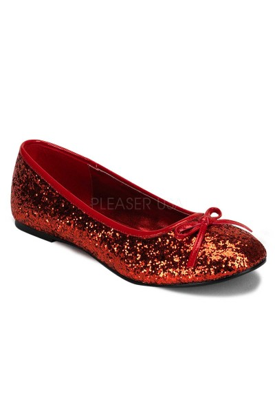 Star Red Glittered Ballet Flat at Mild to Wild Womens Shoes,  Shoes for Women from Flats to Extreme High Heels & Platforms