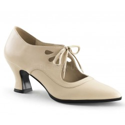 Victorian Cream Cut Out Womens Pump Mild to Wild Womens Shoes  Shoes for Women from Flats to Extreme High Heels & Platforms