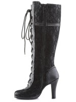 Glam Lace Overlay Knee Boot at Mild to Wild Womens Shoes,  Shoes for Women from Flats to Extreme High Heels & Platforms
