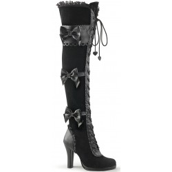 Glam Victorian Lace Gothic Over the Knee Boot Mild to Wild Womens Shoes  Shoes for Women from Flats to Extreme High Heels & Platforms